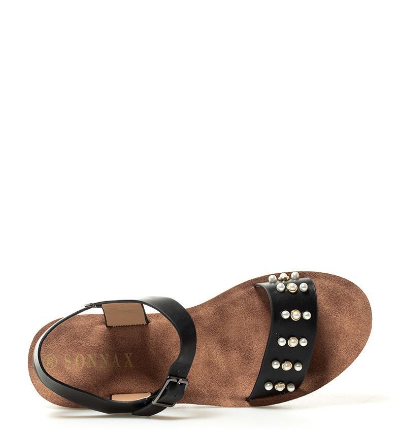Sandalias negro 4cm cuña 4cm Altura Sandalias Nela Altura cuña Sonnax negro Nela Sonnax Sonnax Sandalias qIAxwBF0AW