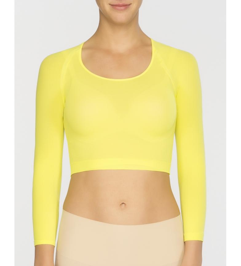 Spanx Camiseta Interior Básica de Punto Semitransparente 20155R amarillo