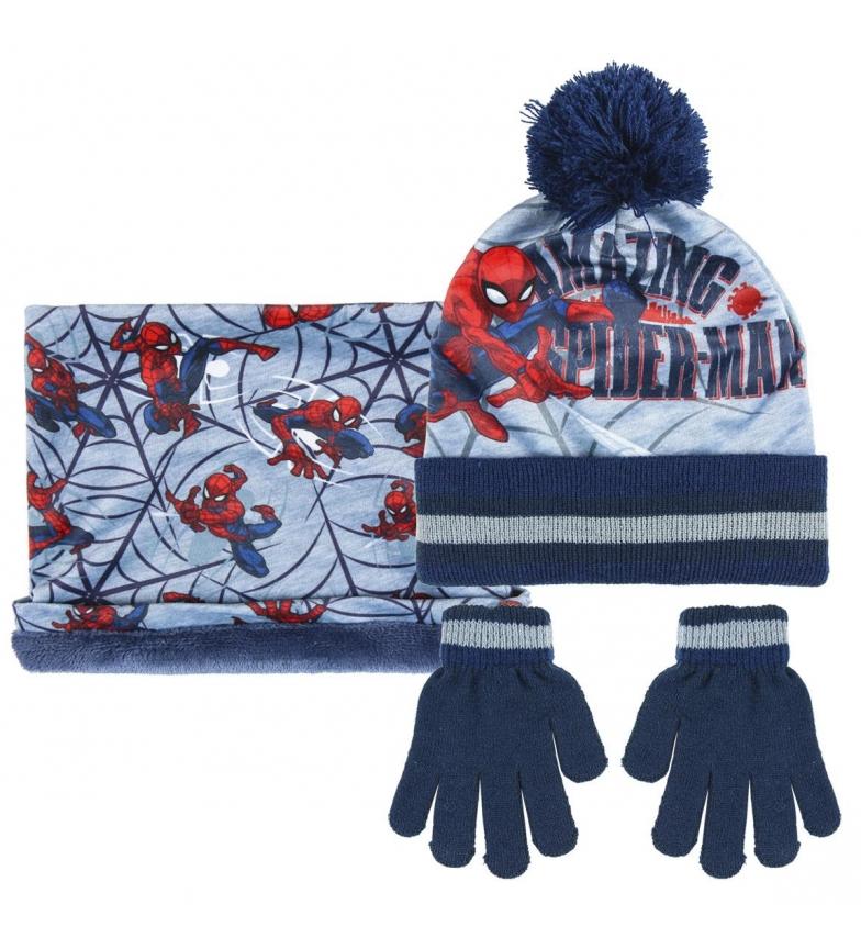 Comprar Spiderman Set 3 pezzi mutandine Spiderman, guanti e berretto grigio