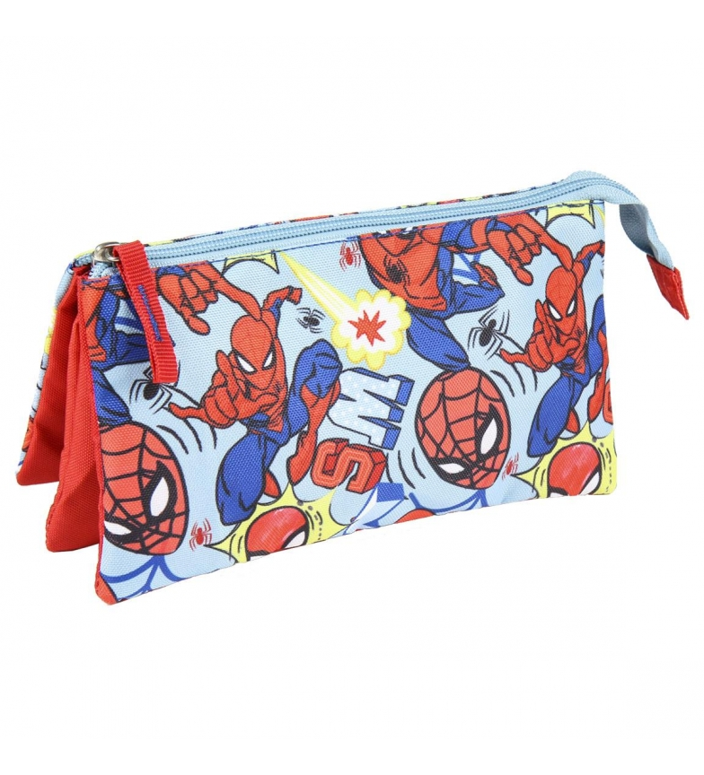 Comprar Spiderman Aranha-Man Flat 3-Compartimento Caixa Azul -23x12,5x3cm