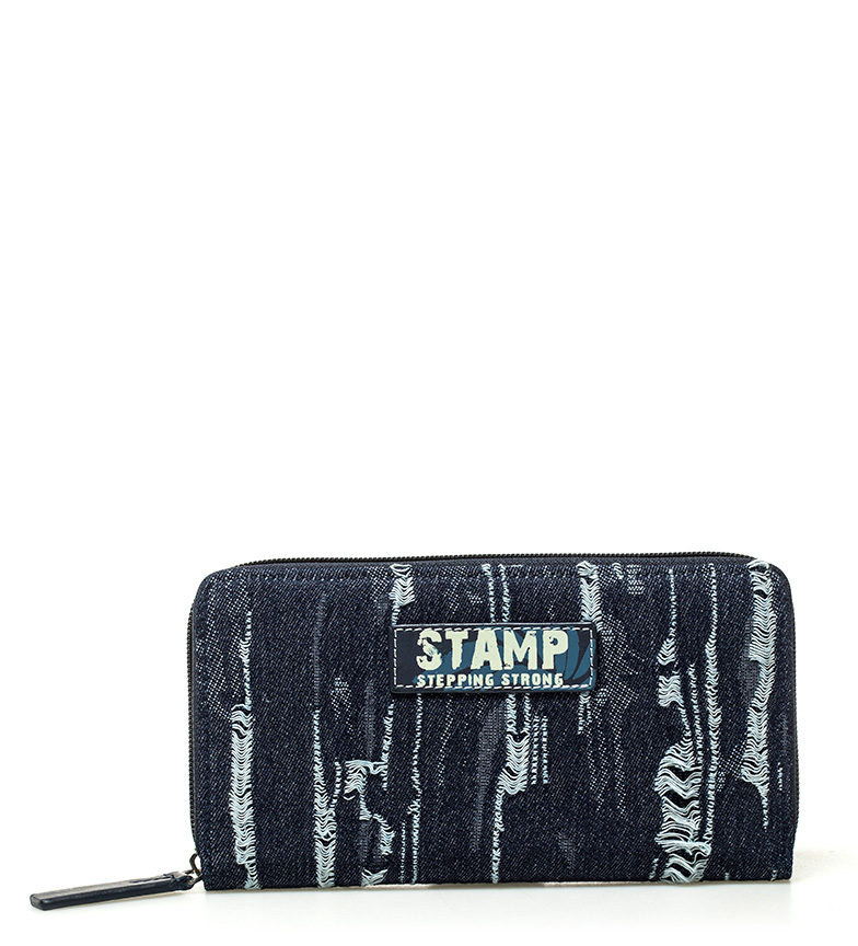 Comprar Stamp Adhara blue wallet -10x19x2cm-