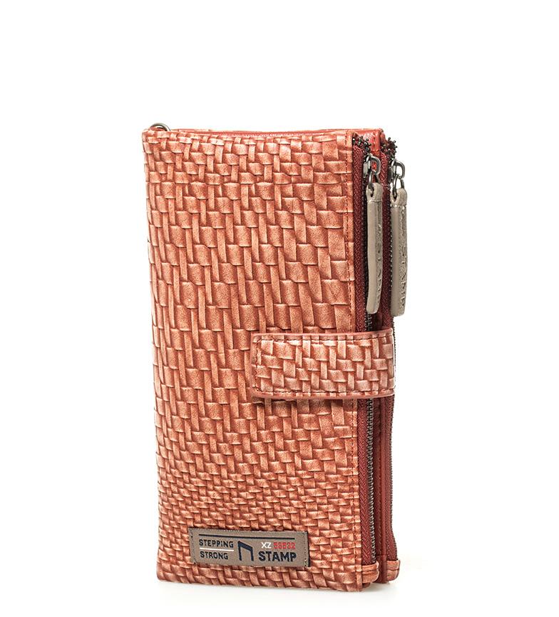 Comprar Stamp Beig red wallet -19x9x2cm-