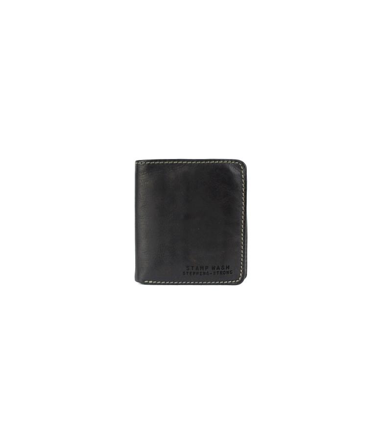 Comprar Stamp Portefeuille en cuir MHST11984NE noir -10x9x2cm