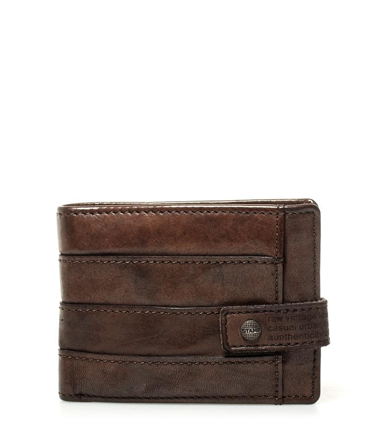 Comprar Stamp Portefeuille en cuir Qaus marron -7,5x10,5cm-