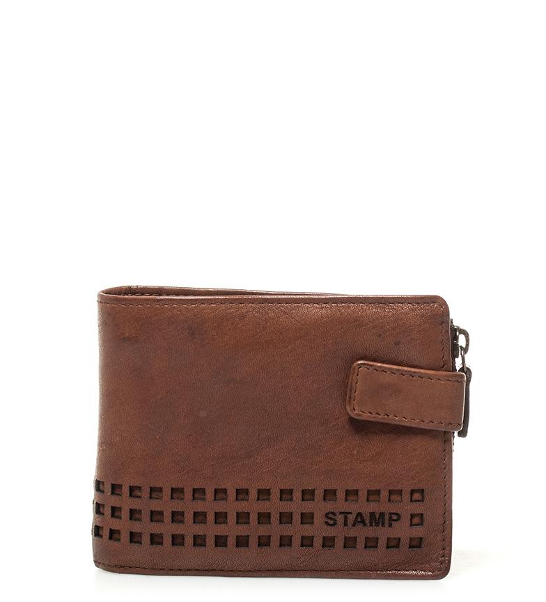 Comprar Stamp Carteira de couro Ross leather -9x11,5cm-