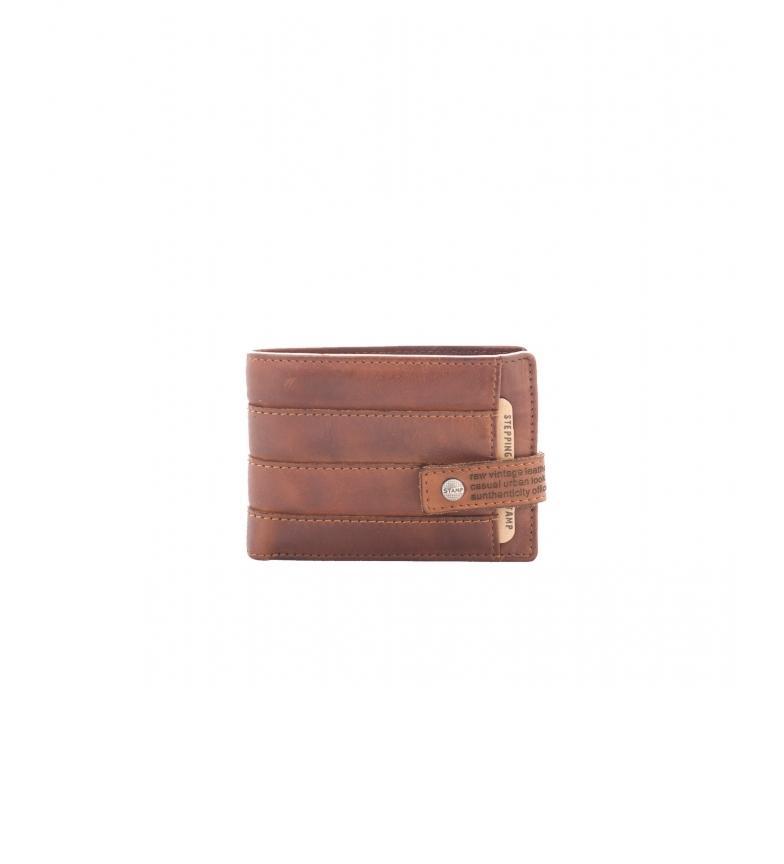 Comprar Stamp Carteira de couro MHST00286CU castanho -7x10x1cm