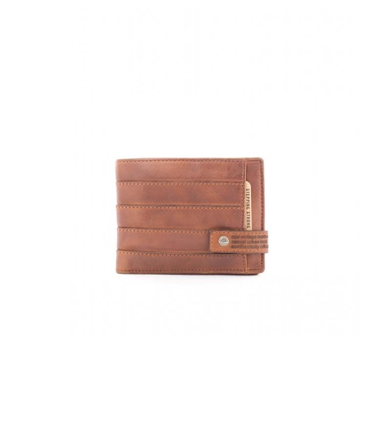 Comprar Stamp Billetero de piel MHST00293CU marrón -9x12x1cm-