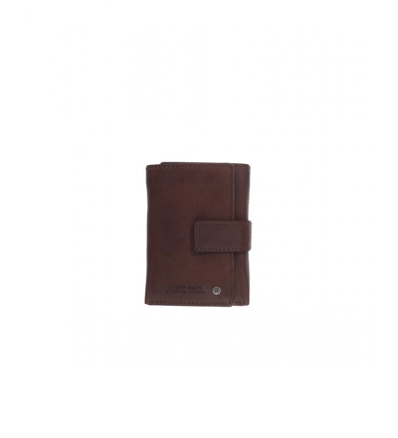 Comprar Stamp Billetero de piel MHST00478MA marrón oscuro -11x8x2cm-
