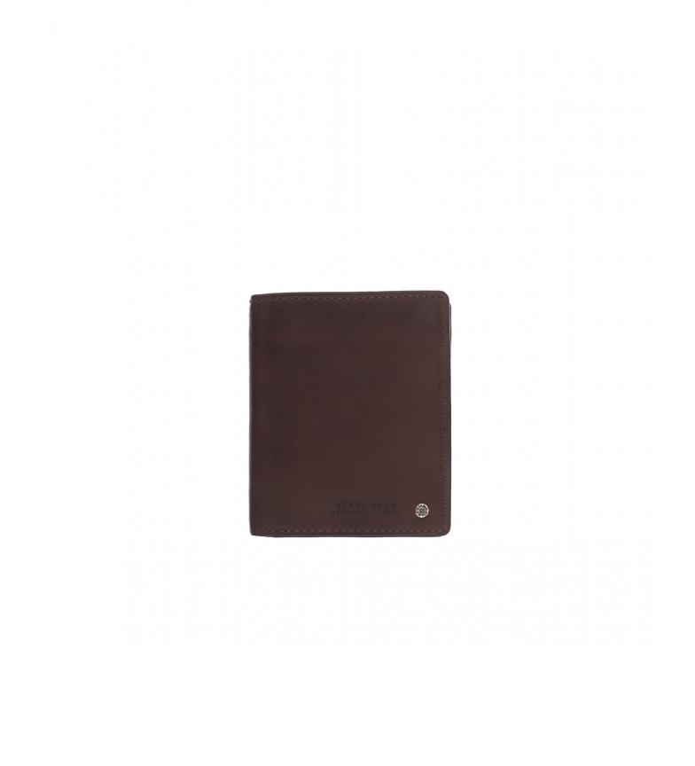 Comprar Stamp Portefeuille en cuir MHST00499MA marron foncé -11x9x1cm