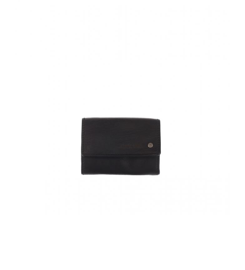 Comprar Stamp Carteira de couro MHST00048NE preta -7x10x2cm