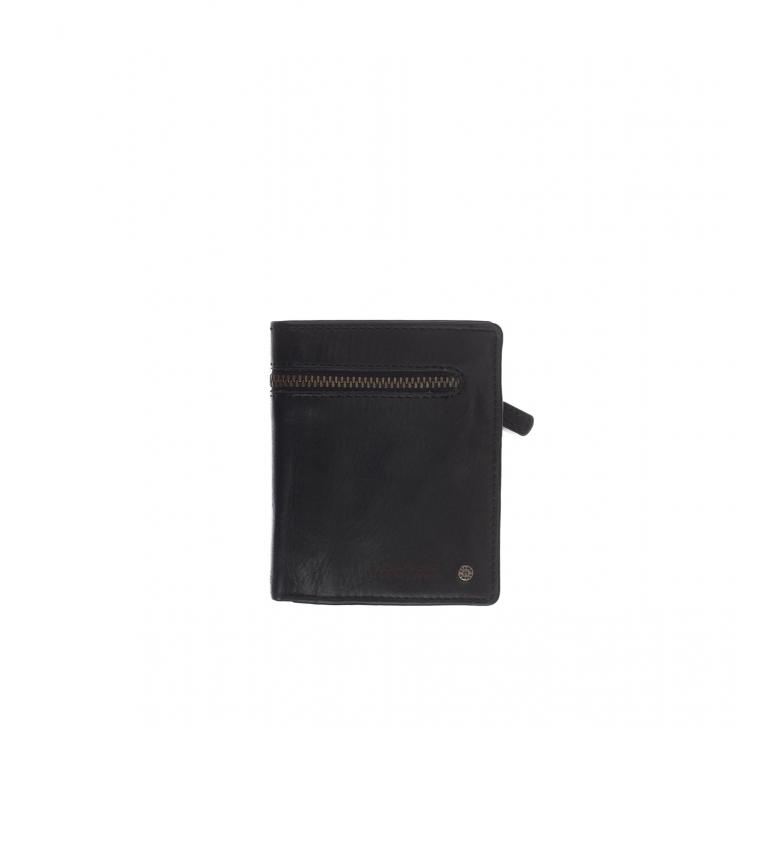 Comprar Stamp Carteira de couro MHST00425NE preta -11x9x1cm