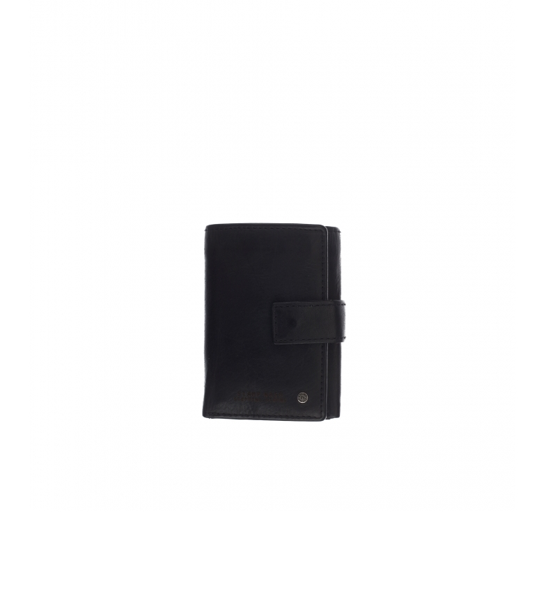 Stamp Leather wallet MHST00478NE black -11x8x2cm