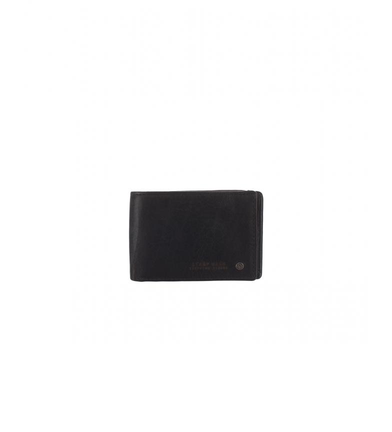 Comprar Stamp Carteira de couro MHST00485NE preta -7x9x1cm