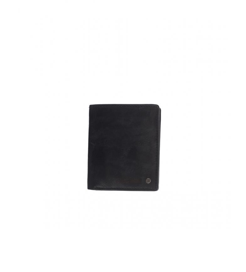 Comprar Stamp Carteira de couro MHST00499NE preta -11x9x1cm