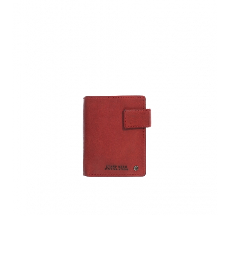 Comprar Stamp Portafoglio in pelle MHST00479RO rosso -10x8x1cm-