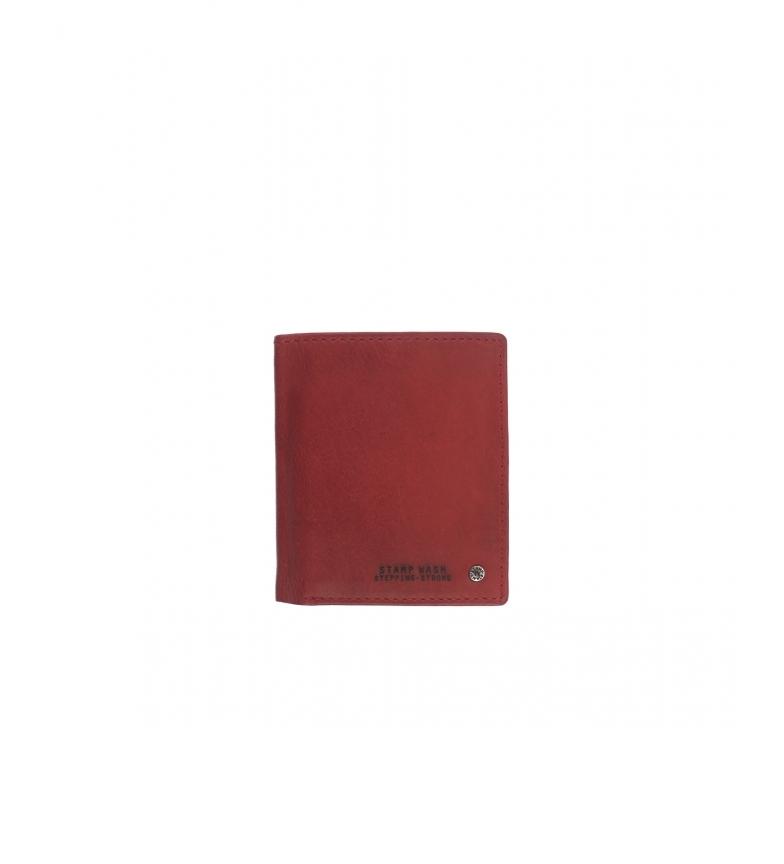 Comprar Stamp Carteira de couro MHST00499RO vermelho -11x9x1cm