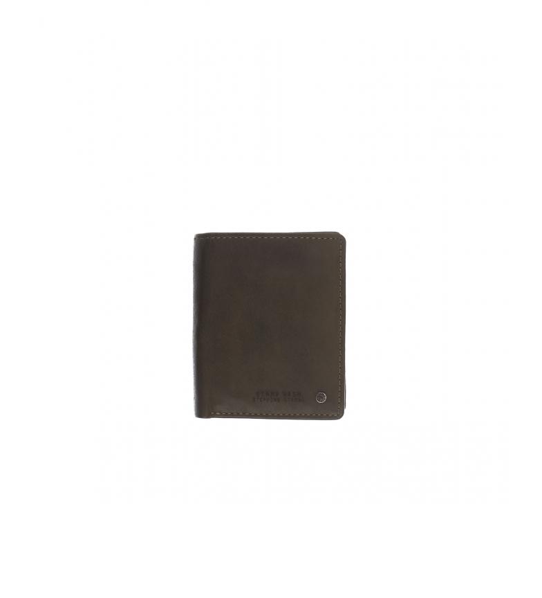 Comprar Stamp Carteira de couro MHST00499KA cáqui -11x9x1cm