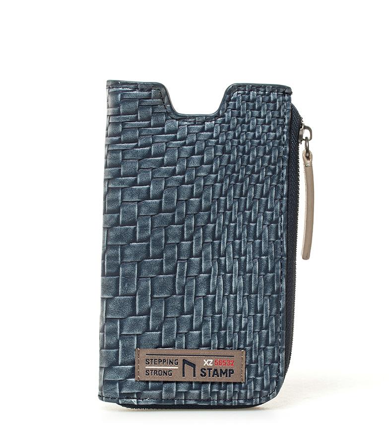 Comprar Stamp Blue Beid handbag -15x8,5x1cm-