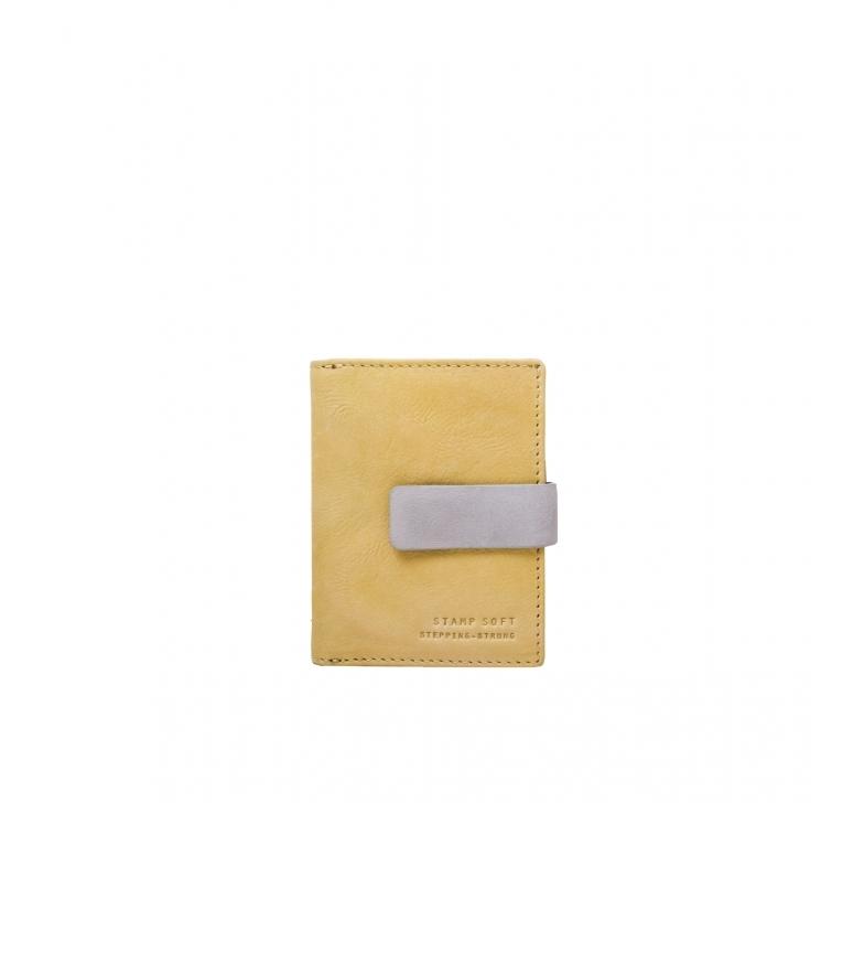 Comprar Stamp Cartera de piel MMST33312AM amarillo -10x8x2cm-