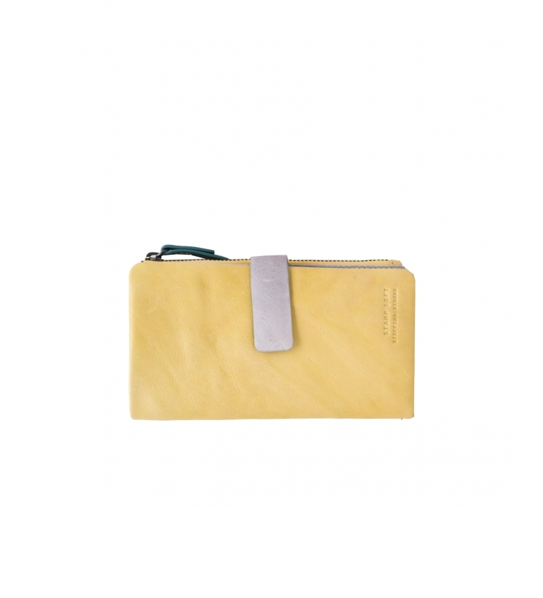 Comprar Stamp Cartera de piel MMST33316AM amarillo -15x9x2cm-
