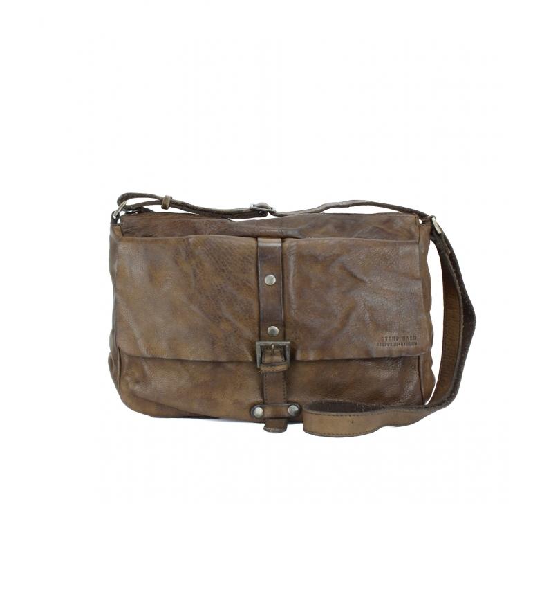 Comprar Stamp Leather briefcase BHST00262TA taupe -23x33x13cm