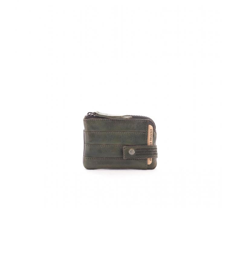 Comprar Stamp Carteira de couro MHST00205KA cáqui -7x10x1cm