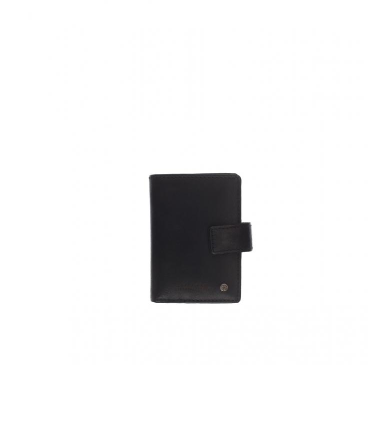 Stamp Tarjetero de piel MHST00045NE negro -10x7x1cm-