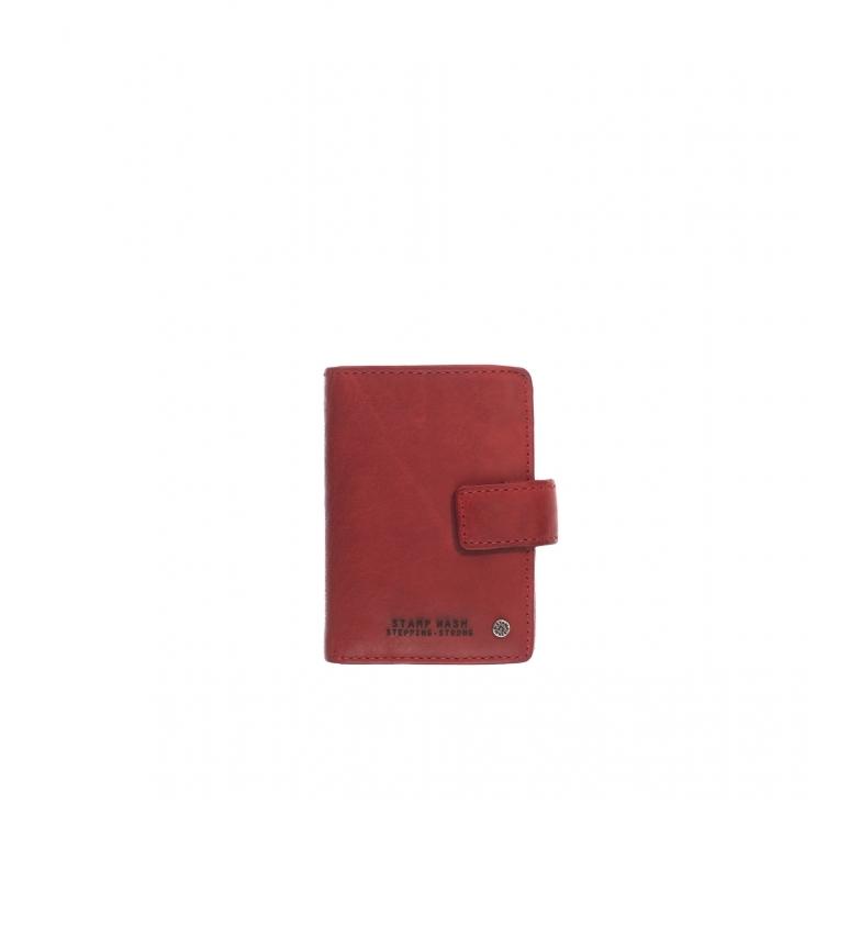 Comprar Stamp Leather Card Holder MHST00045RO red -10x7x1cm