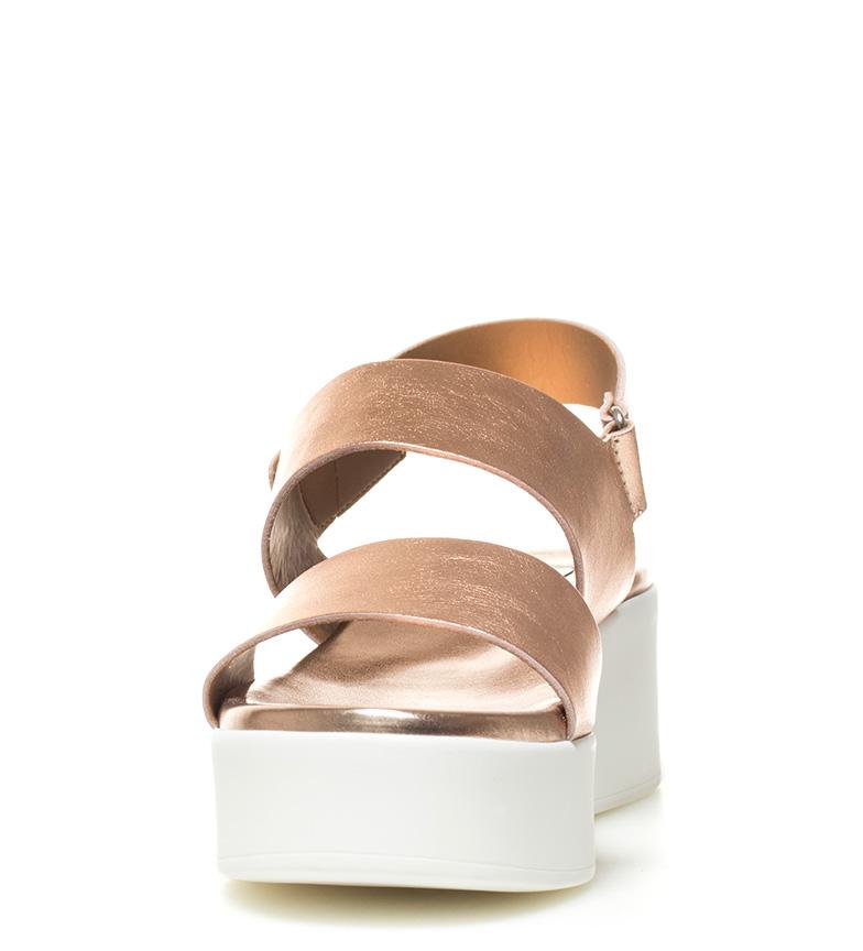rosa oro Rachel Sandalias Steve Altura plataforma Madden piel 5cm de 5 XYwXFx7