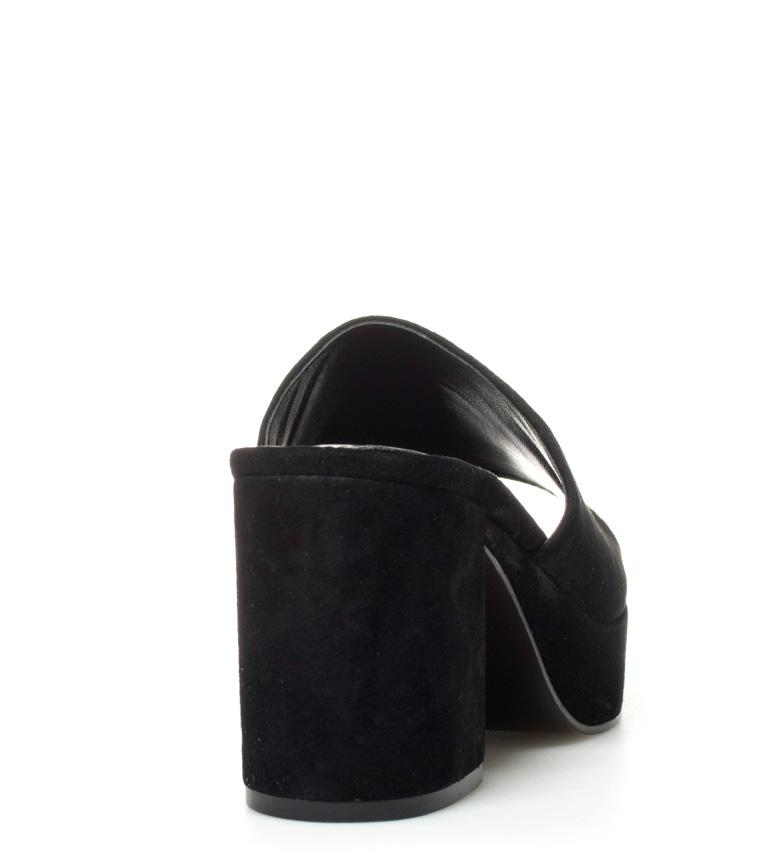 9cm Steve Madden de piel Relax Altura negro Zueco tacón q8qrBOf