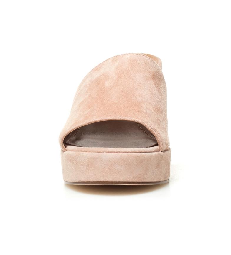tacón Relax Madden Steve 9cm piel rosa Altura Zueco de wI0x70