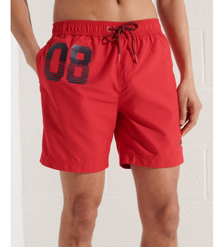 Superdry Waterpolo red swimsuit
