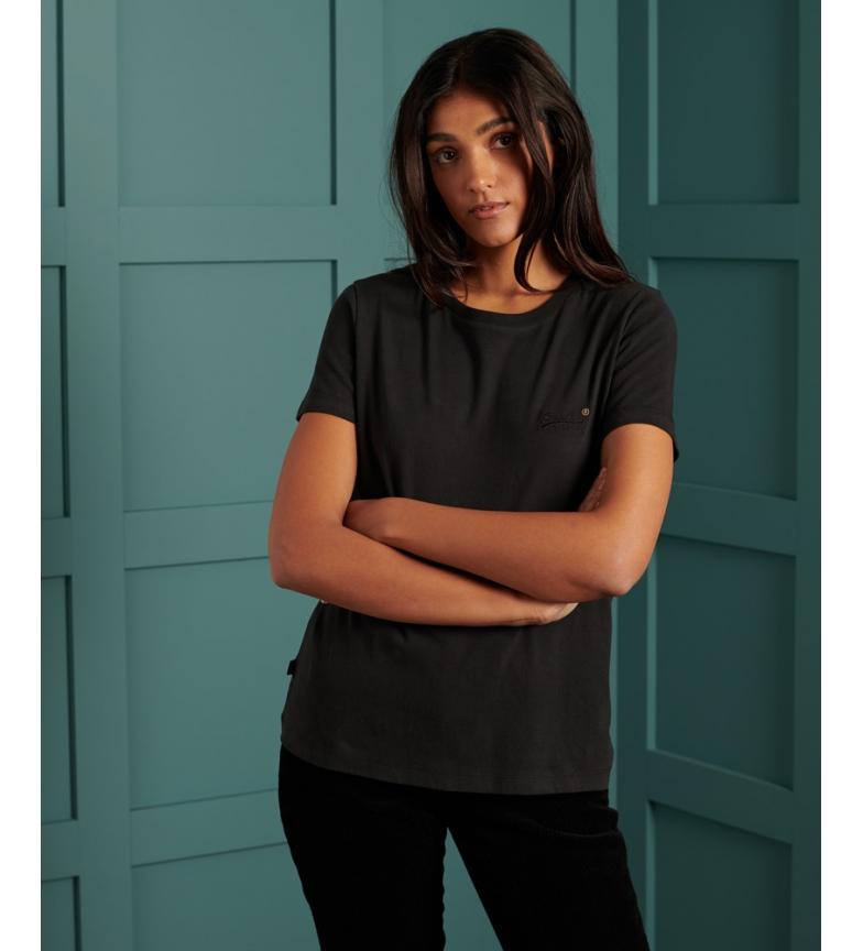 Comprar Superdry T-shirt de algodão orgânico preto