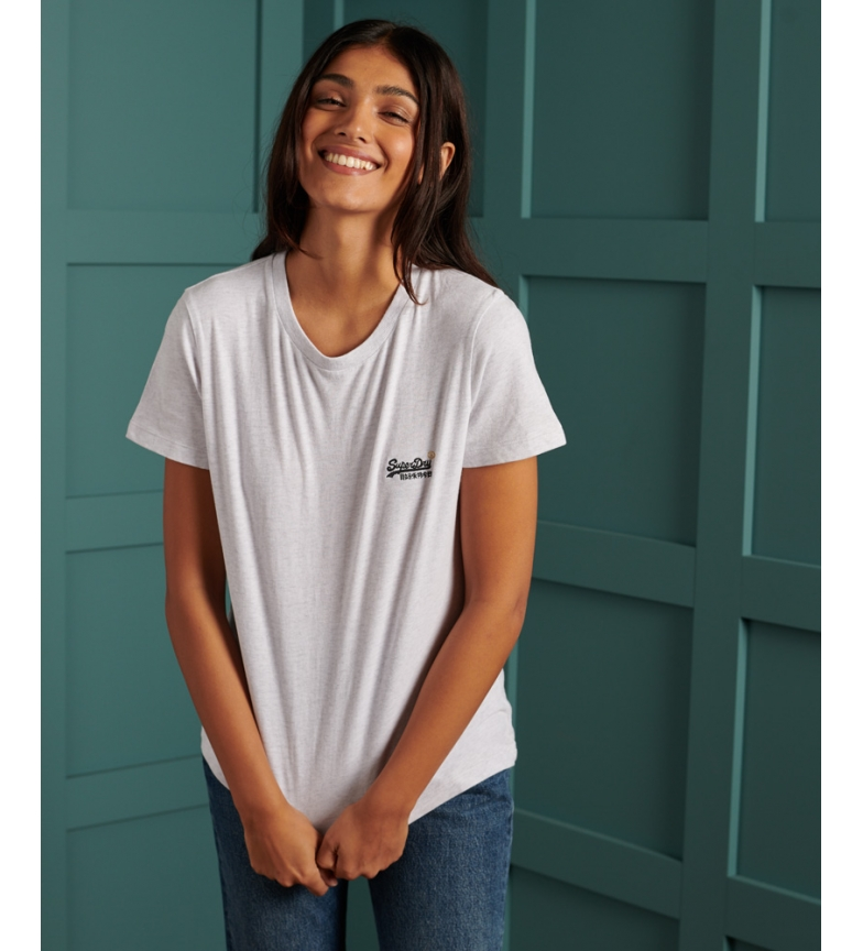 Comprar Superdry T-shirt em algodão orgânico cinzento