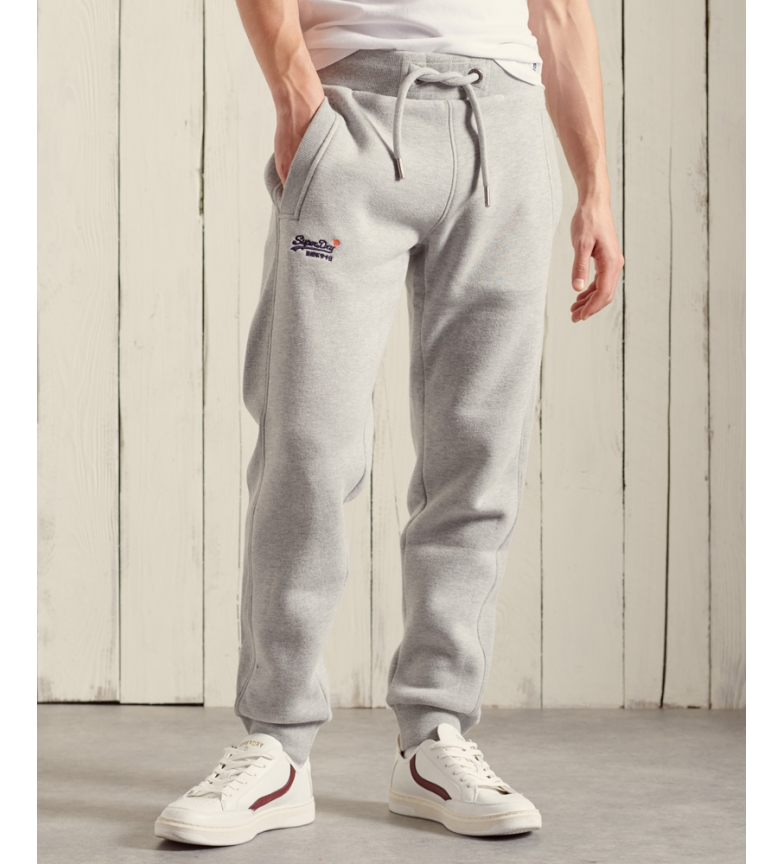Superdry Pantaloni da jogging classici della collezione Orange Label grigi