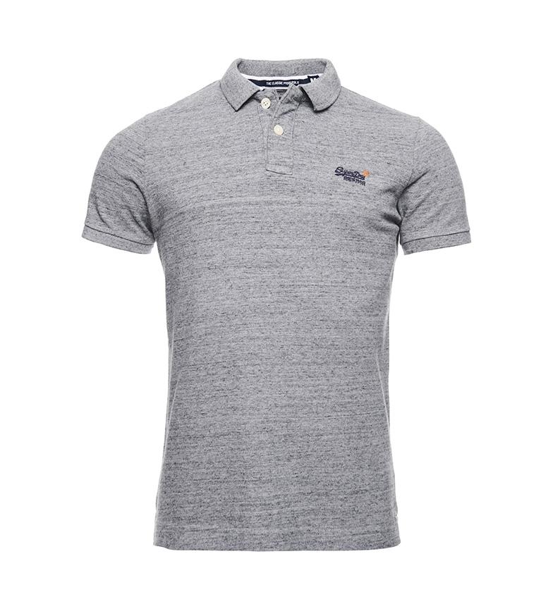 Comprar Superdry Camisa Pique Pólo Clássico de Algodão Orgânico Cinzento