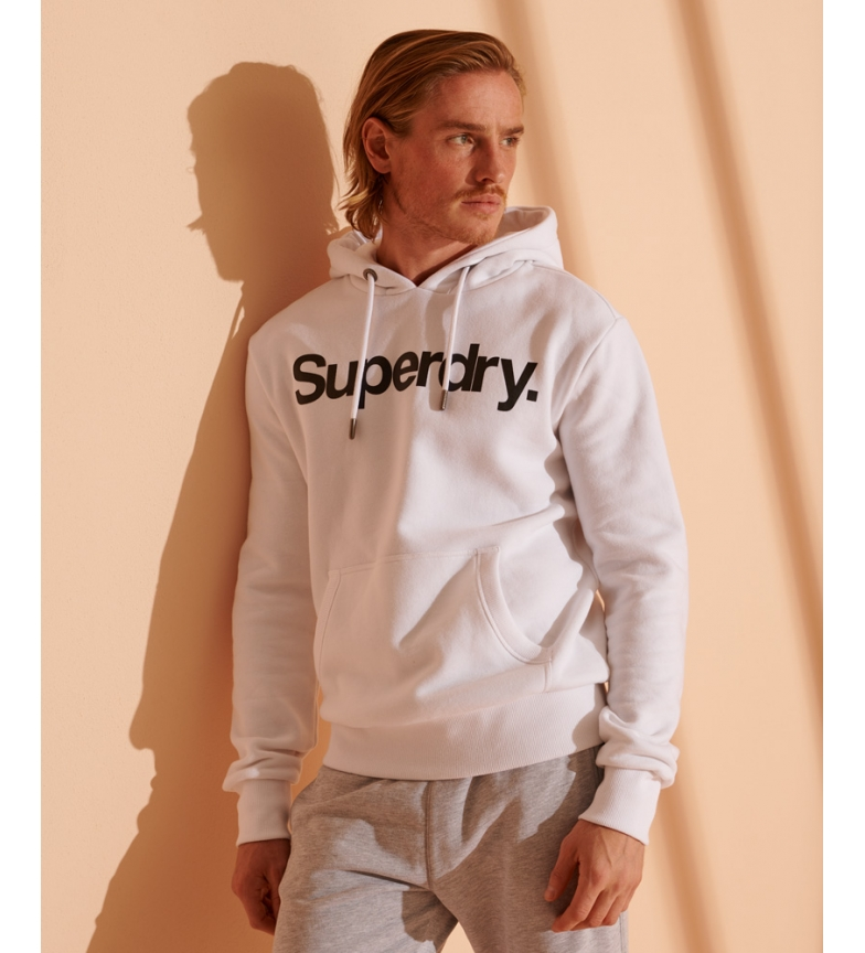 Superdry Hoodie with Core Logo white