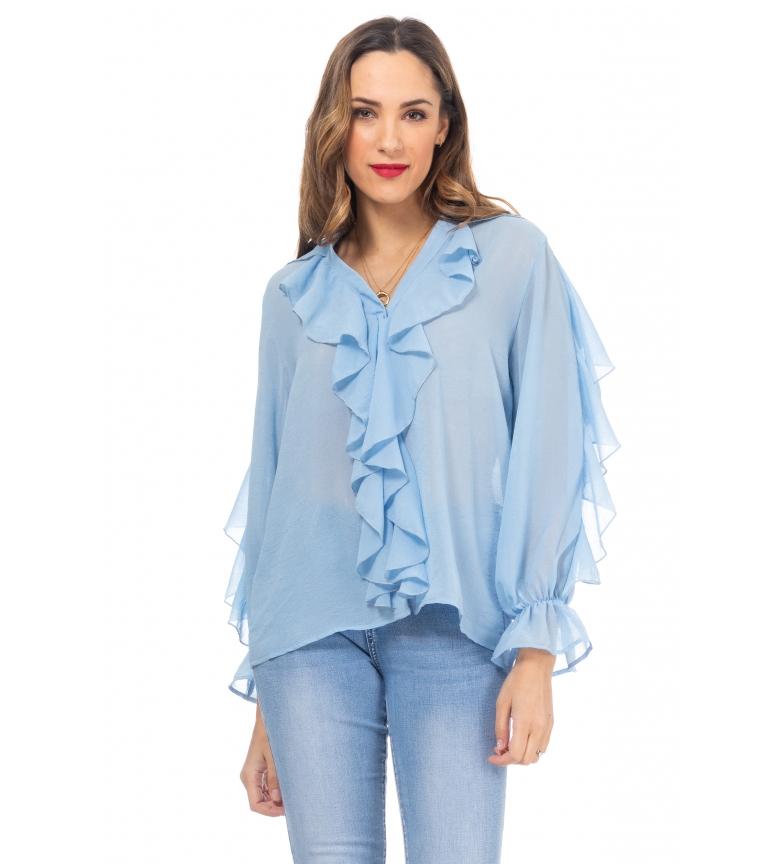 Comprar Tantra Blouse à volants bleus