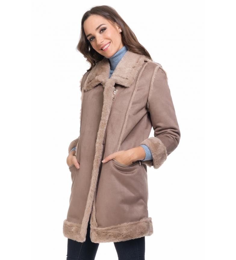 Comprar Tantra Beige suede coat