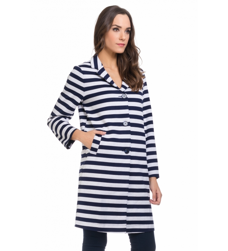 Comprar Tantra Blue striped coat
