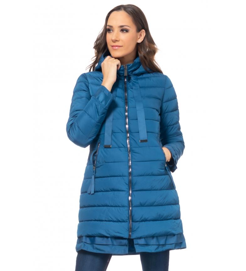 Comprar Tantra Giacca lunga con cappuccio blu