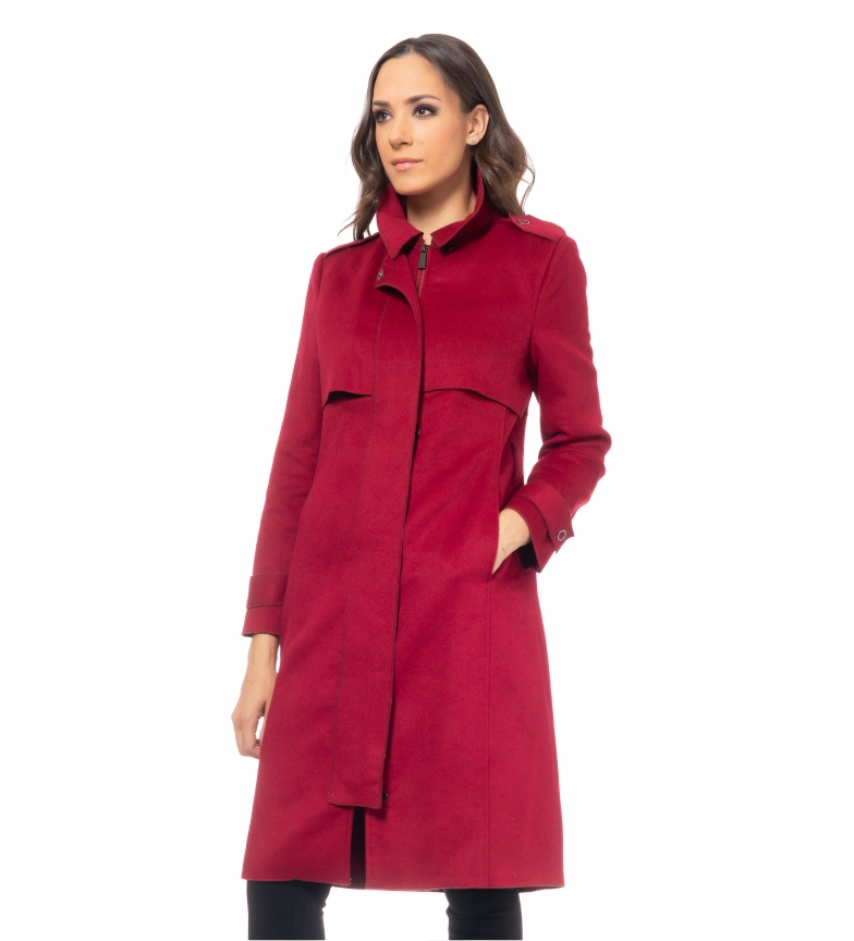 Comprar Tantra Burgundy Wool Coat