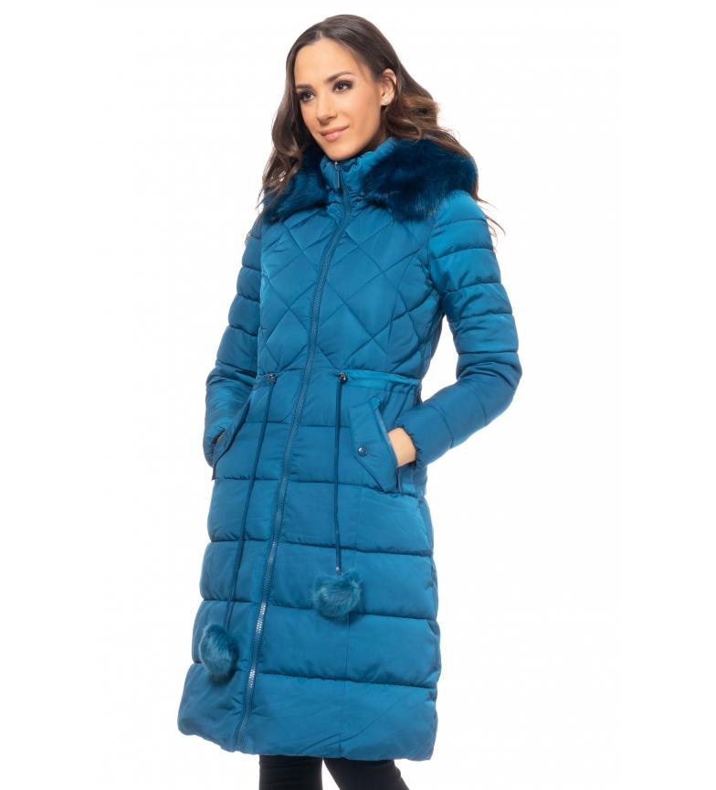 Comprar Tantra Casaco Longo com Capuz Azul