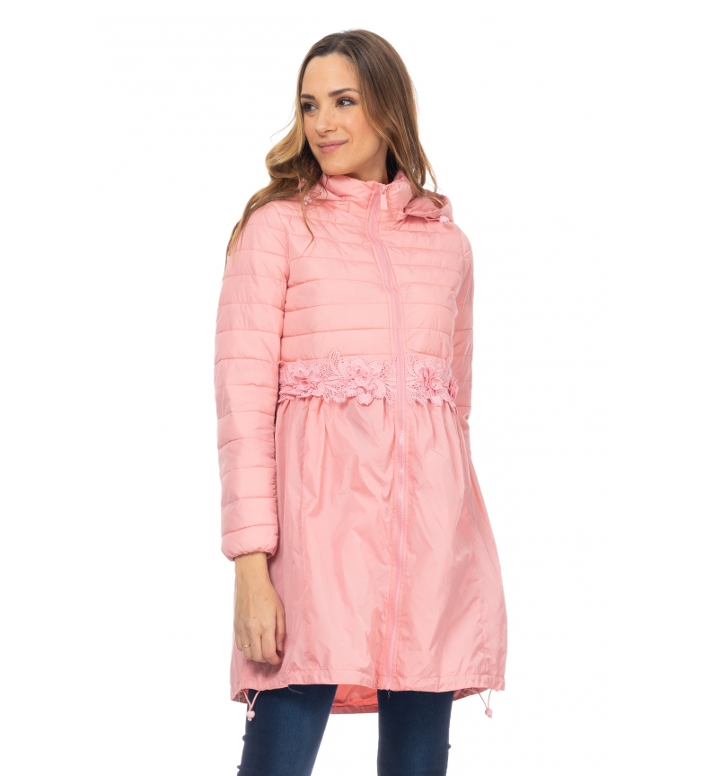Comprar Tantra Long Anorak with Pink Lace