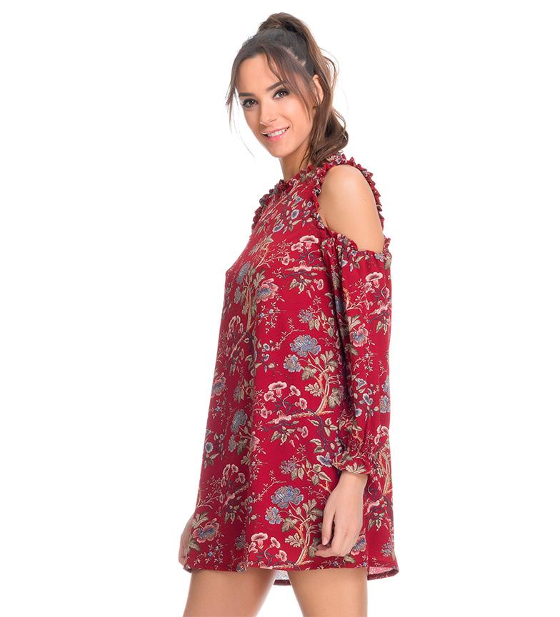 Tantra Vestido floral rojo