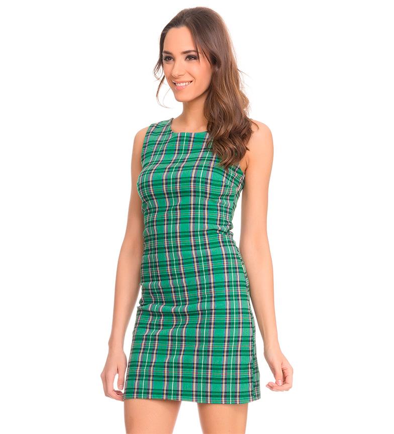 Tantra Vestido escoc�s verde