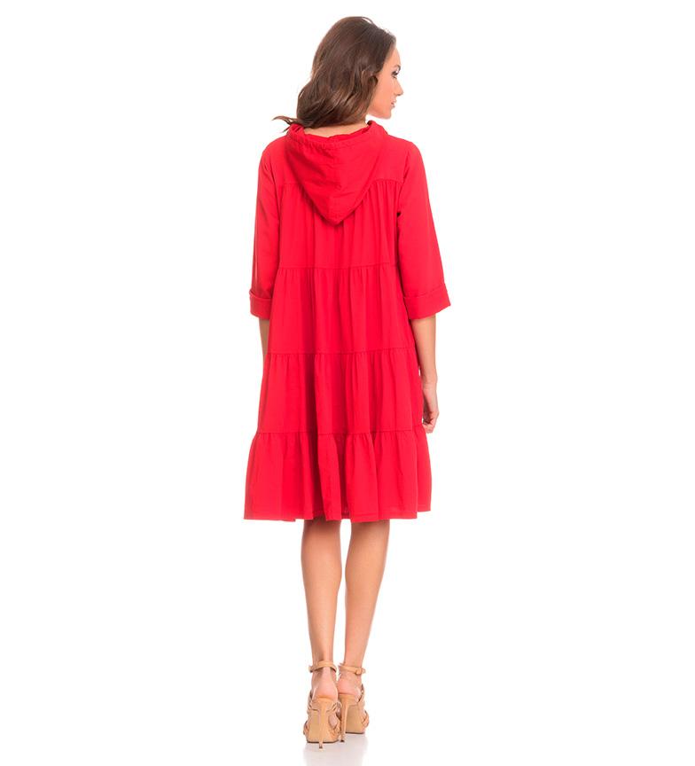 Tantra Vestido capucha rojo