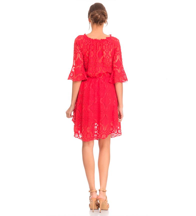 Tantra Vestido encaje rojo