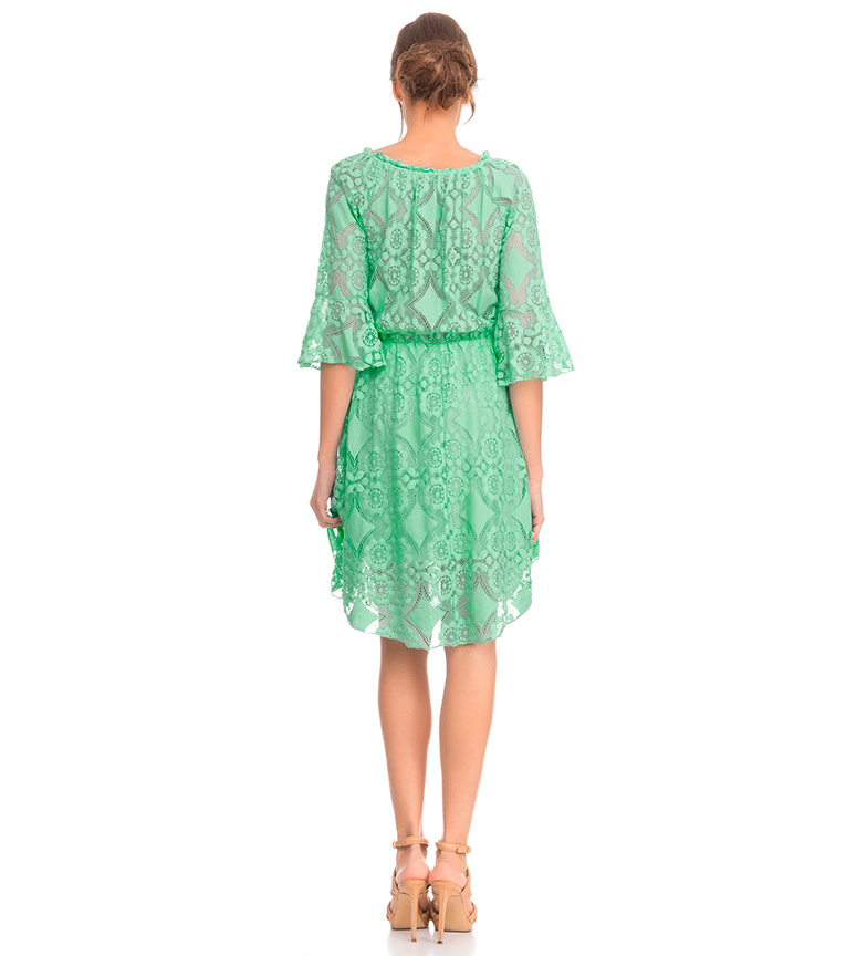 Tantra Vestido encaje verde