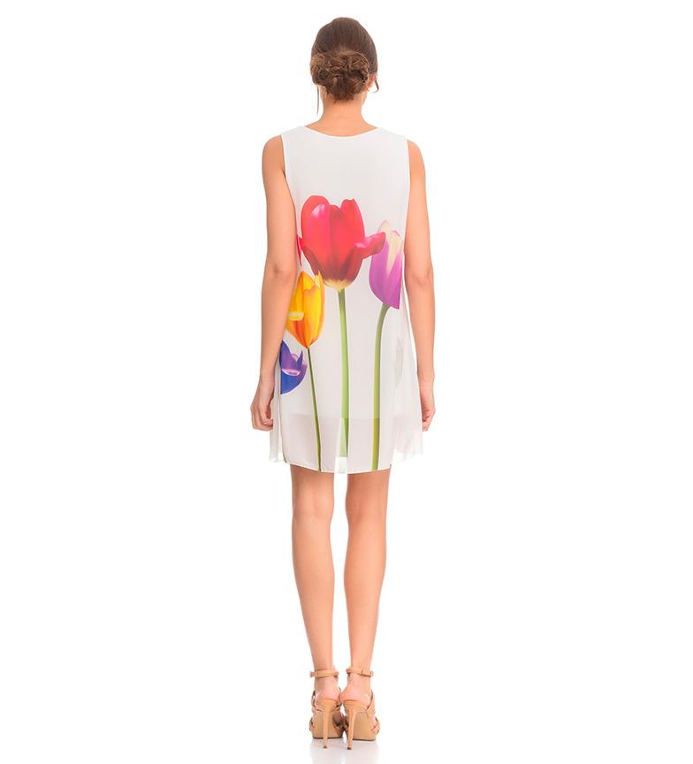 Tantra Vestido tulipanes blanco